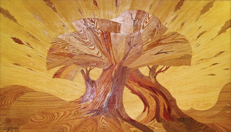 Мозаика по дереву своими руками