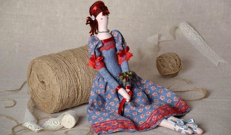 Выбор материалов для куклы Тильды