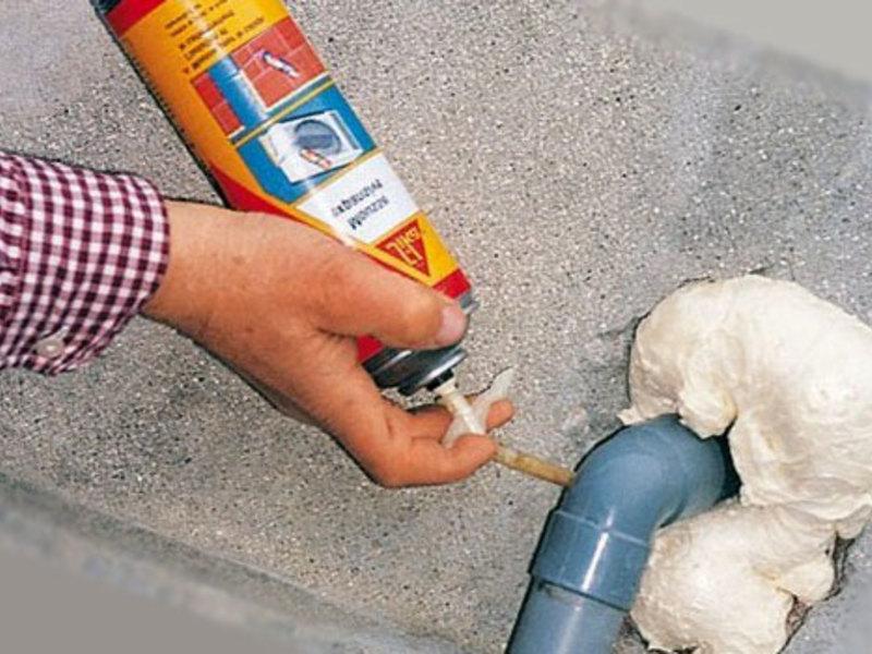 монтажная пена для заделки щелей в бетоне