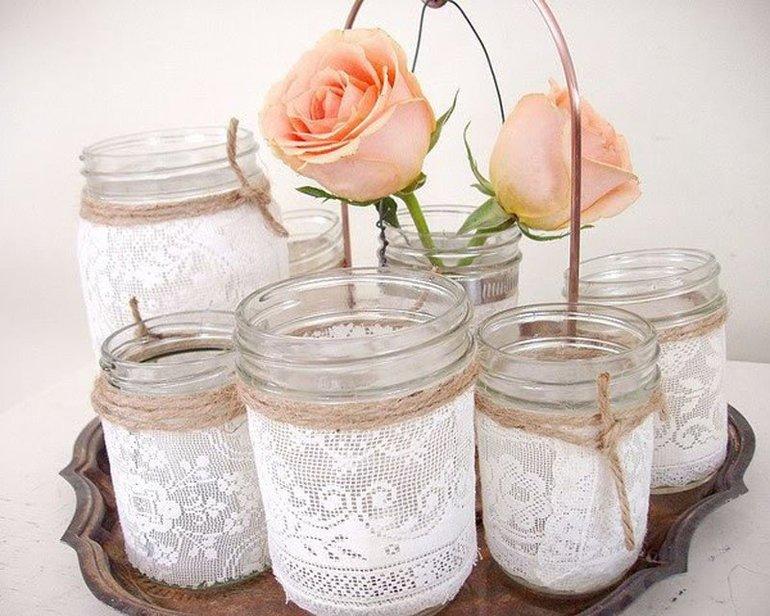 Особенности декоративного оформления стеклянных банок своими руками
