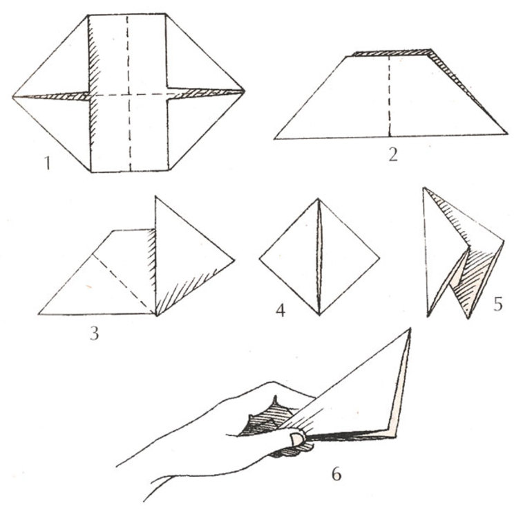 схема как сделать из бумаги хлопушку