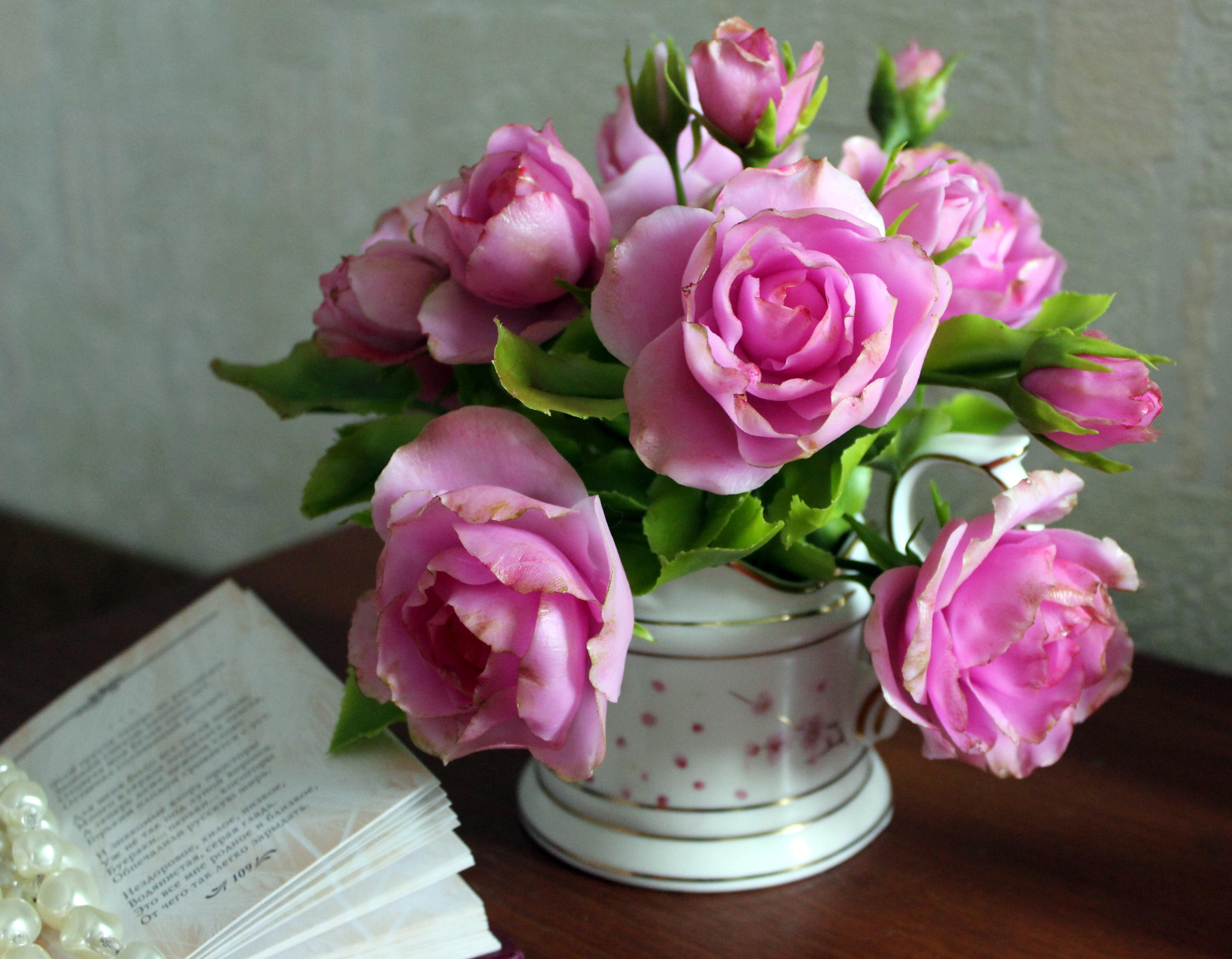 Цветы из холодного фарфора для начинающих