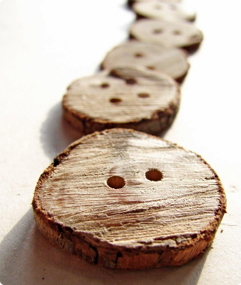 Деревянные пуговицы своими руками