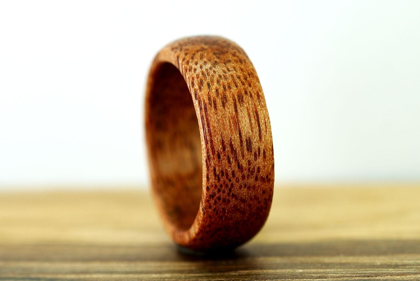 Кольцо из дерева: оригинальная бижутерия своими руками