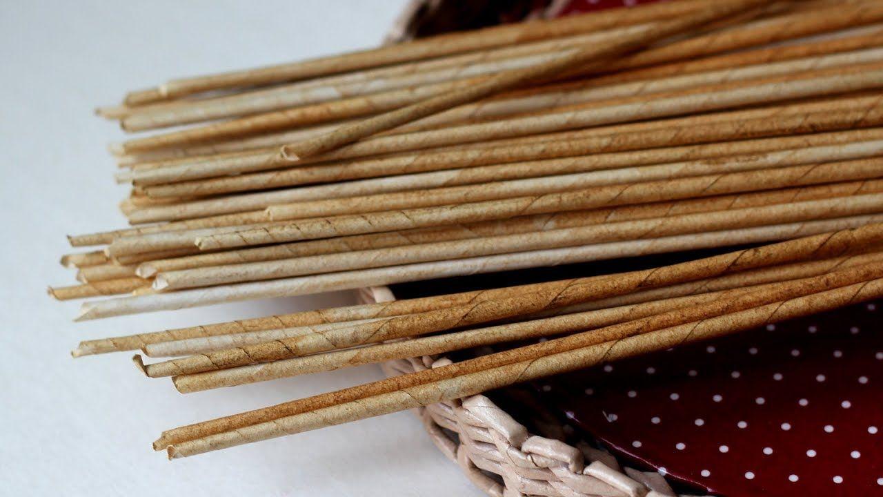 Газетные трубочки в плетении