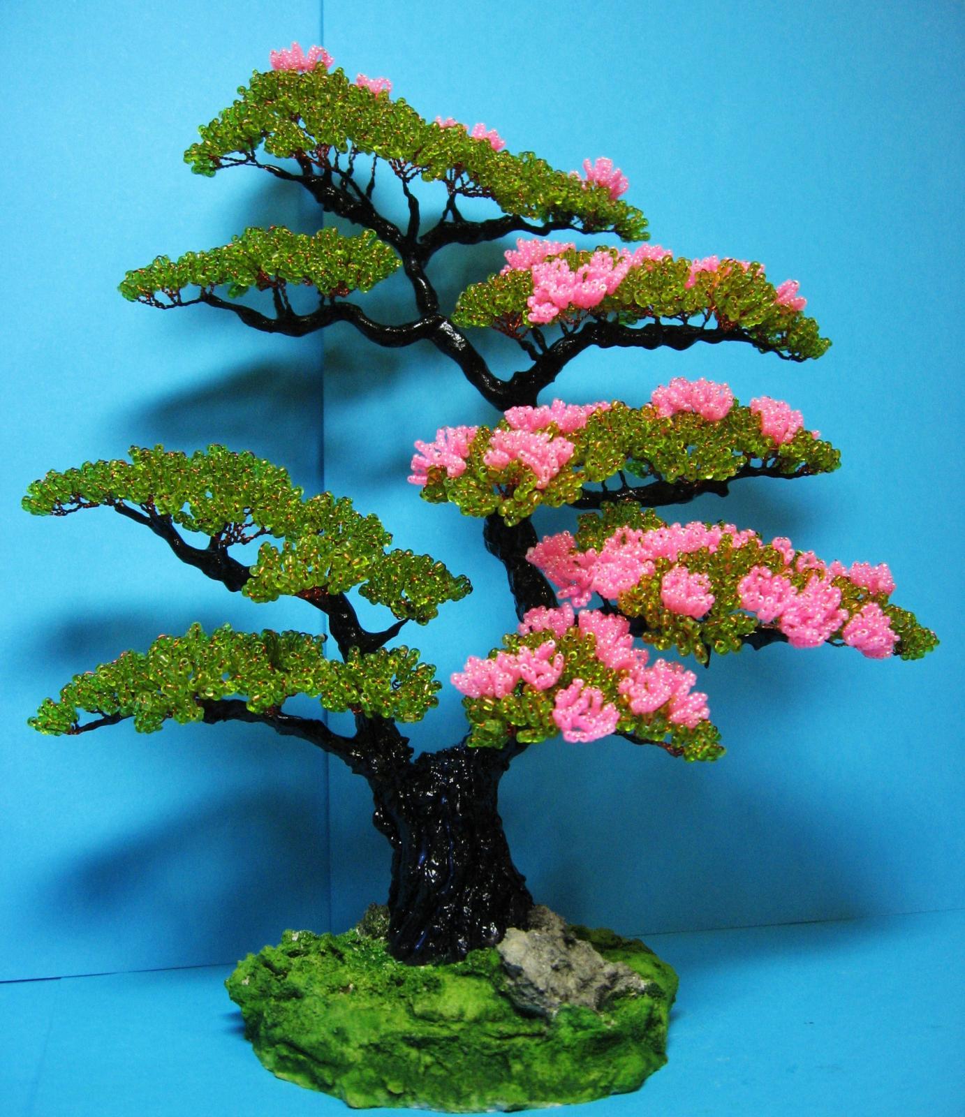 Деревья из бисера с пошаговыми картинками