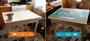 Как обновить старый кухонный столик?