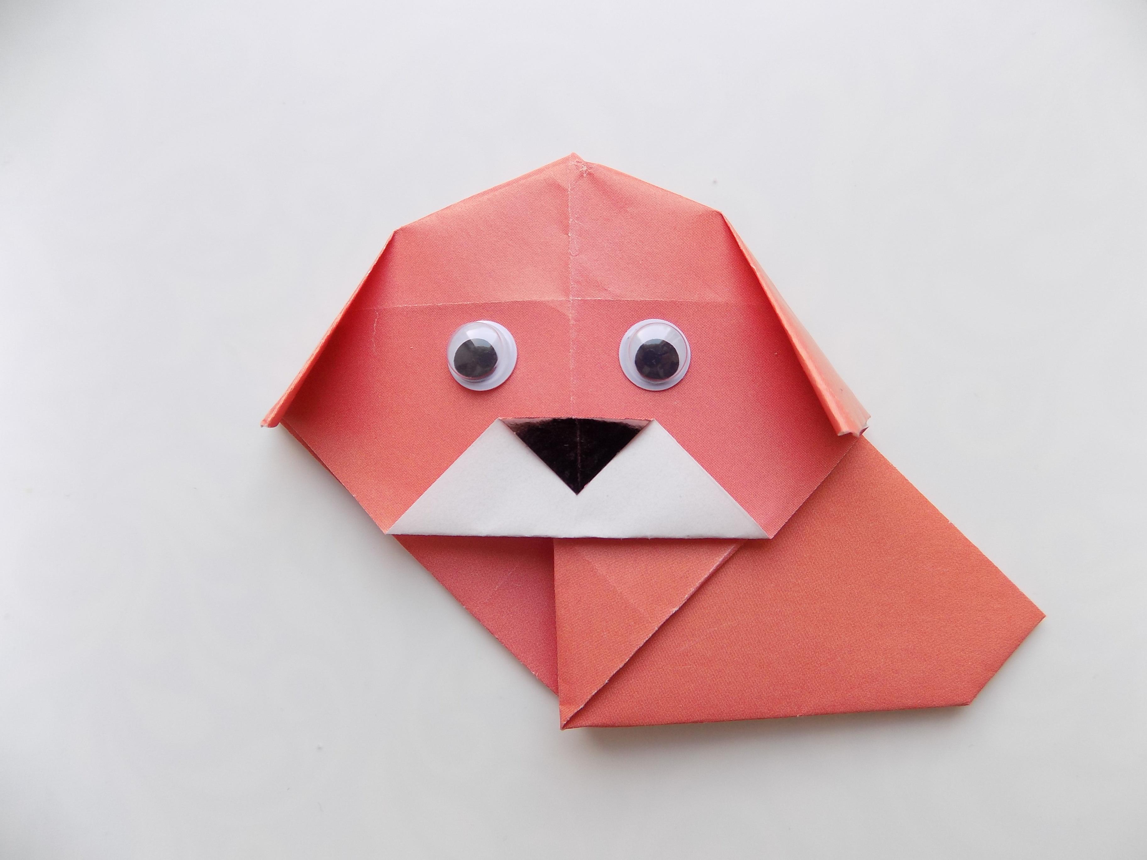 Как сделать собачку из бумаги?