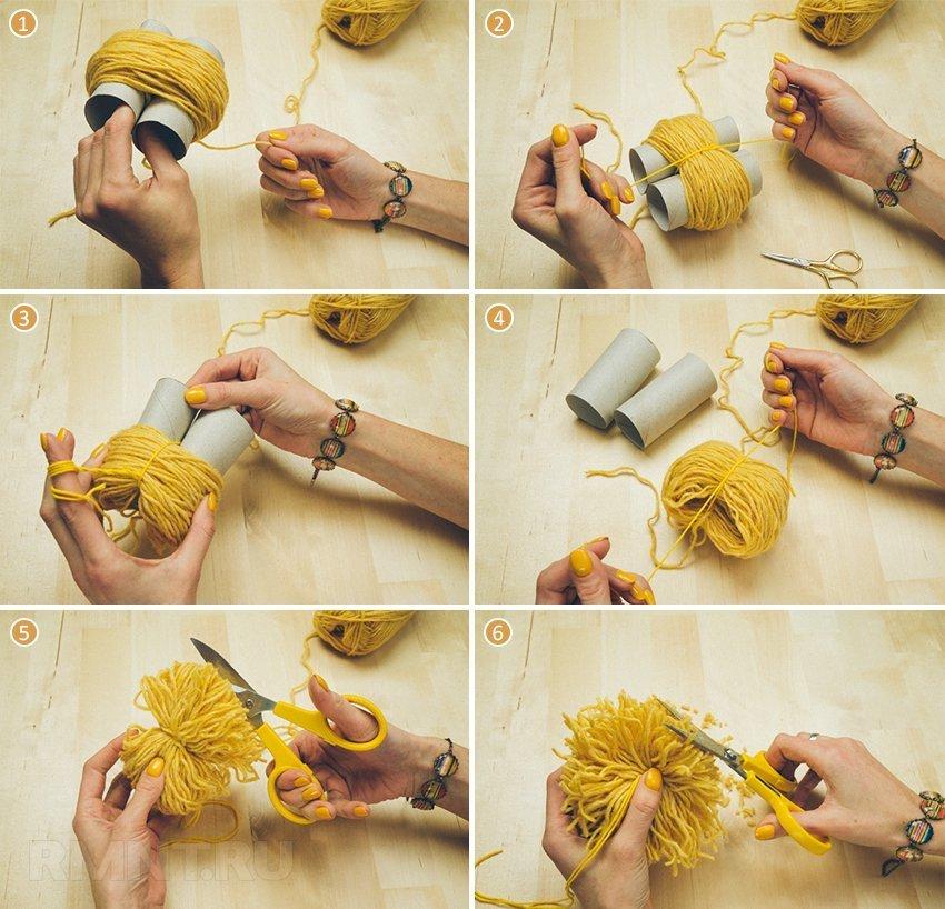 Как легко изготовить помпон дома?