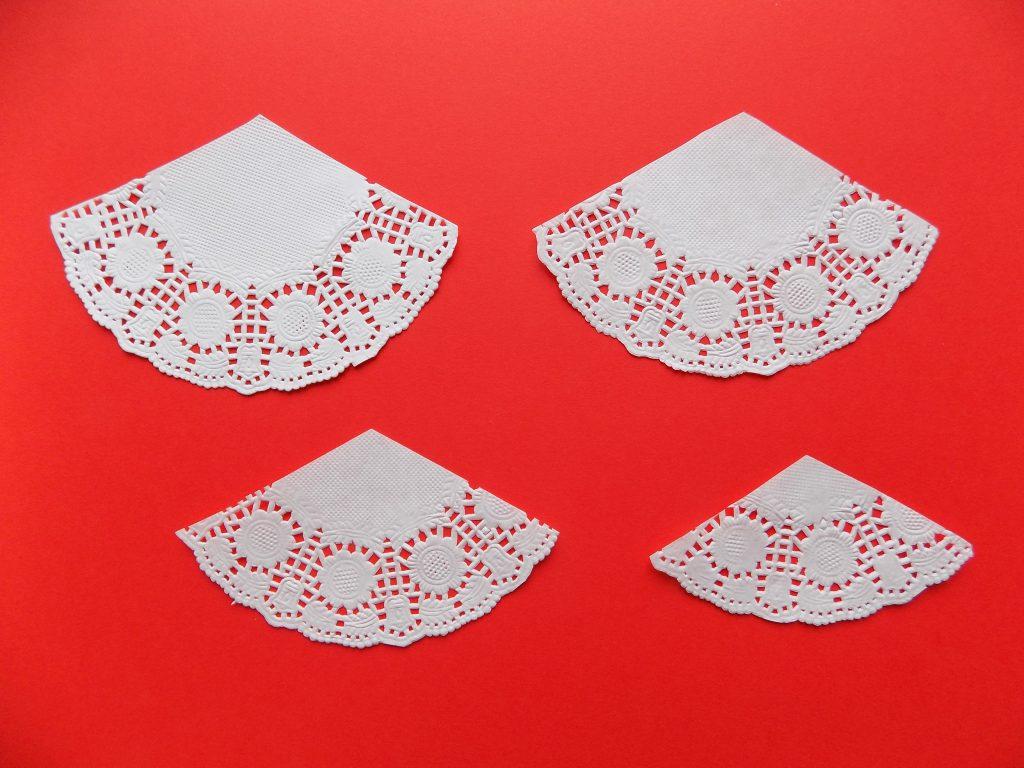 Открытки бумажные ажурные салфетки
