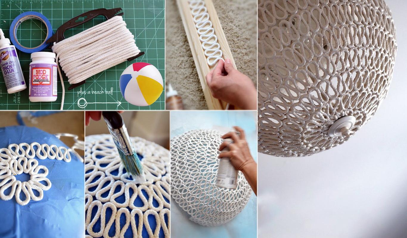 Невероятные поделки из ткани и ниток (ваза)