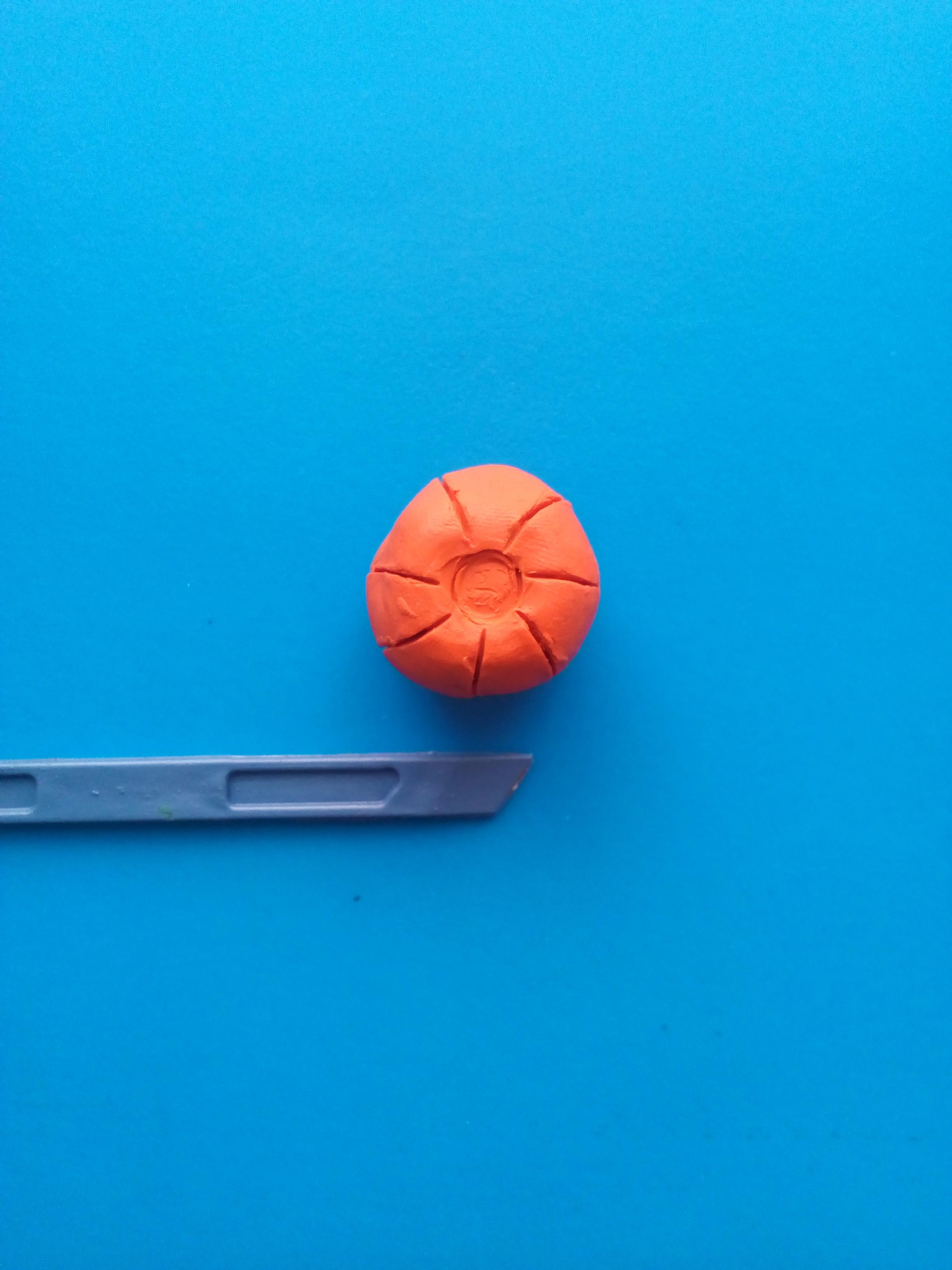 Лепка тыквы из пластилина на Хэллоуин своими руками поэтапно