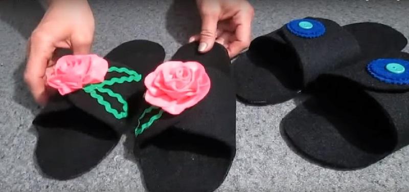 Как изготовить тапочки из фольгированного утеплителя